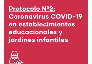 Protocolo N°2 Coronavirus COVID19 para establecimientos educacionales.